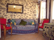 Apartamento rural Salon con sofa cama